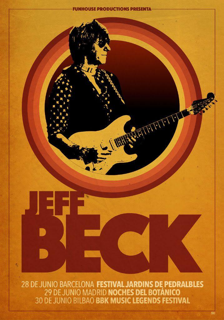 Jeff Beck anuncia conciertos en junio en Madrid, Barcelona y Bilbao.