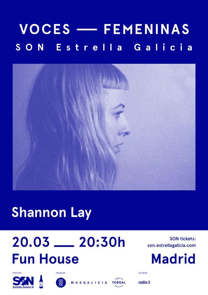 """Voces Femeninas SON Estrella Galicia continúa el ciclo con Shannon Lay y la presentación de """"Living Water"""" en Madrid"""