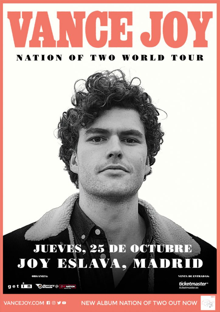 "Vance Joy presentará ""Nation of Two"" en la sala Joy Eslava de Madrid"