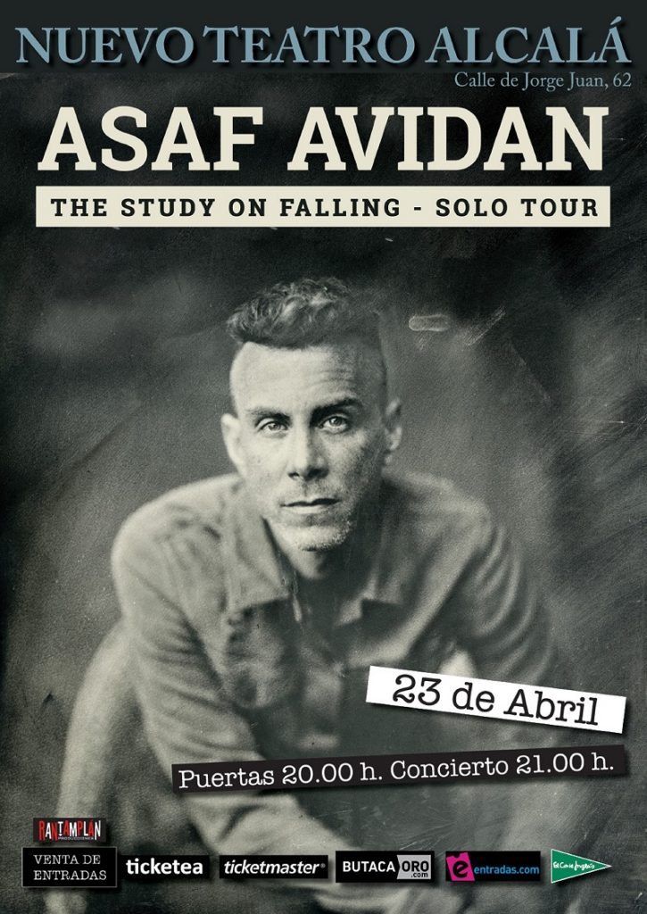 Asaf Avidan presenta The Study on Falling - Solo Tour en Madrid