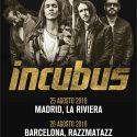 incubus de gira en Madrid y Barcelona en agosto