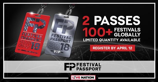 Live Nation lanza el Festival Passport para 2018 con el acceso a más de 100 festivales