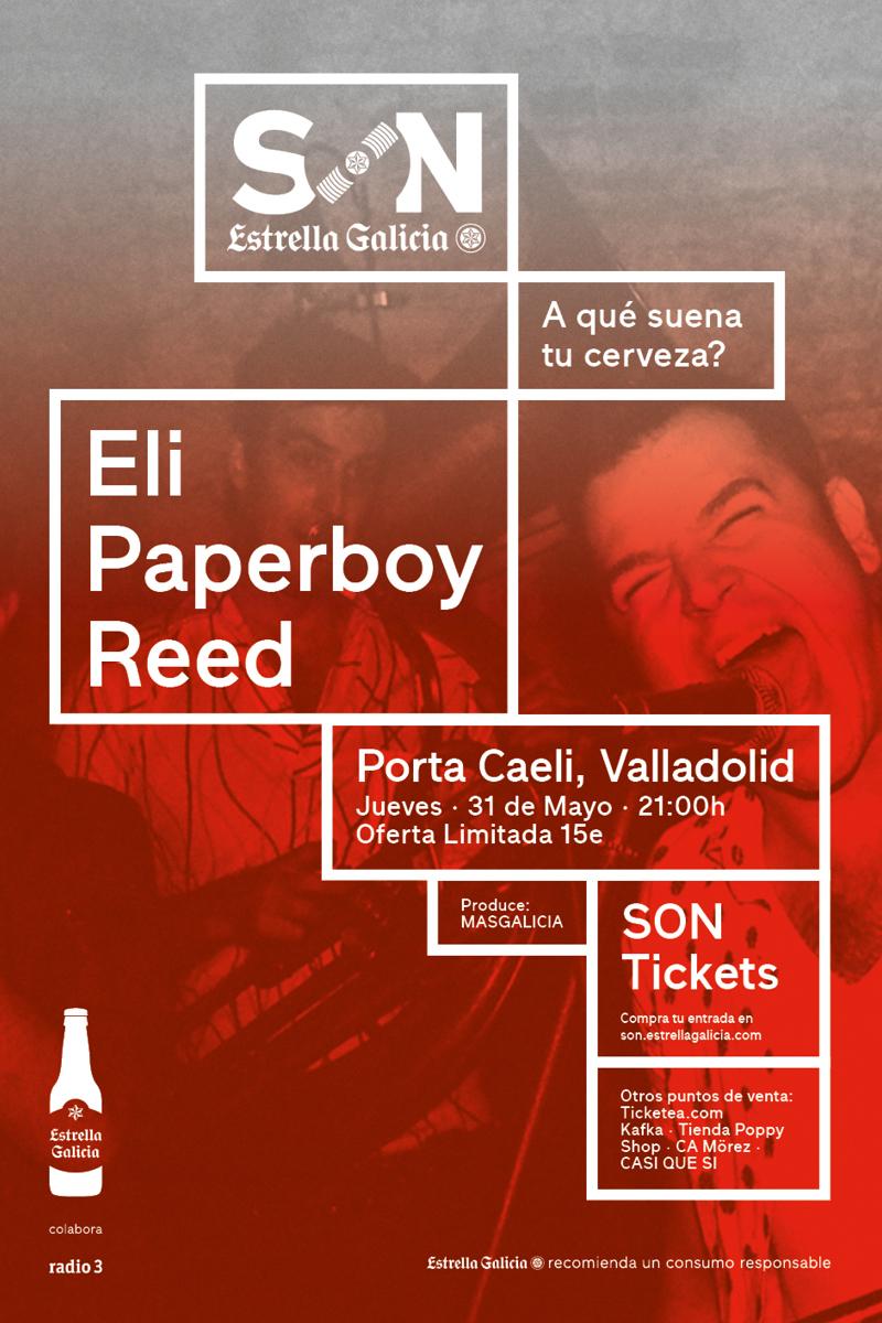Cartel SON EG ELI PAPERBOY REED_Valladolid