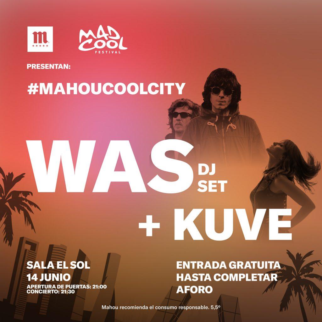 WAS y Kuve en la sala sol con Mad Cool Festival