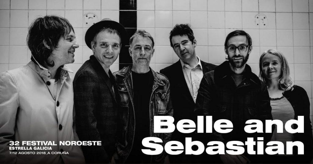 belle and sebastian actuarán gratis el 10 de agosto en el fsetival Noroeste Estrella Galicia.