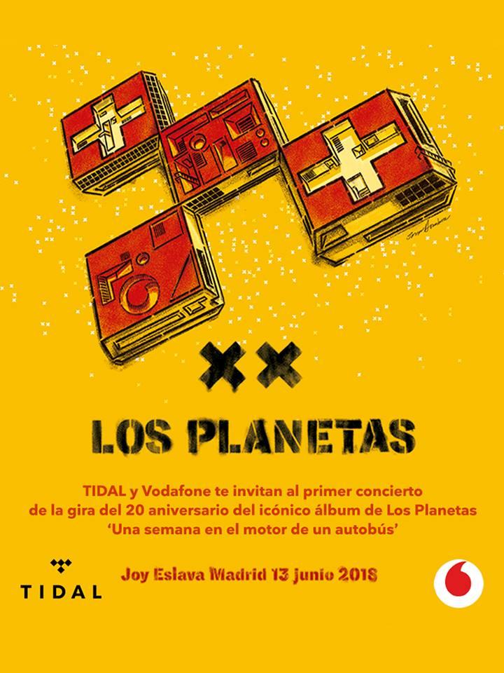 los planetas aniversario una semana en el motor de un atobús en joy eslava madrid 2018
