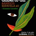 refavela de gilberto gil en la sala la riviera de Madrid