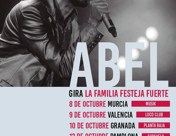 abel pintos de gira en octubre con La Familia Festeja Fuerte