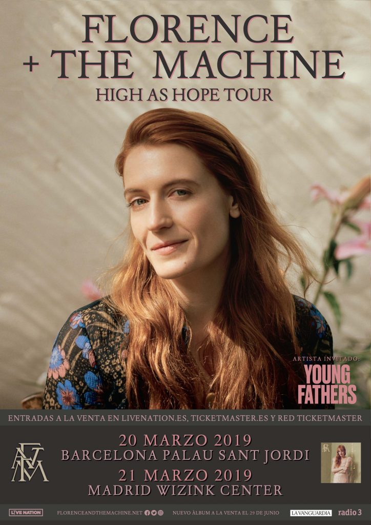 young fathers y Florence and the machine en marzo en MAdrid