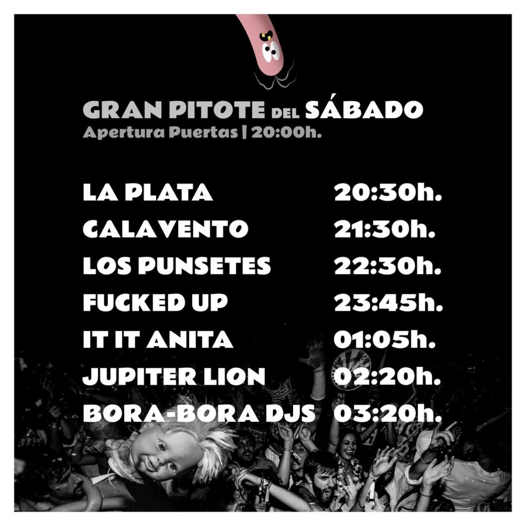 Canela party horarios sabado 2018