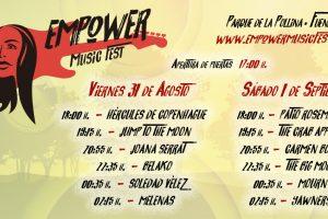 horarios empower music fest
