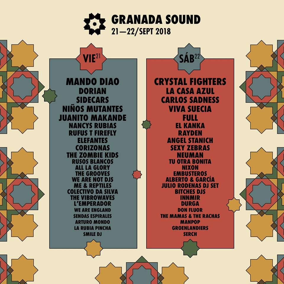 cartel por días granada sound 2018