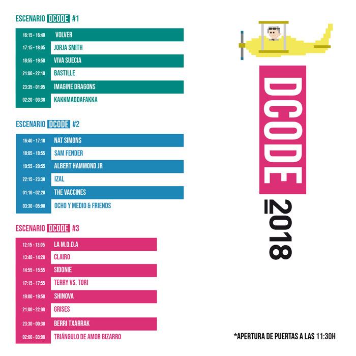 horarios del dcode 2018 en madrid