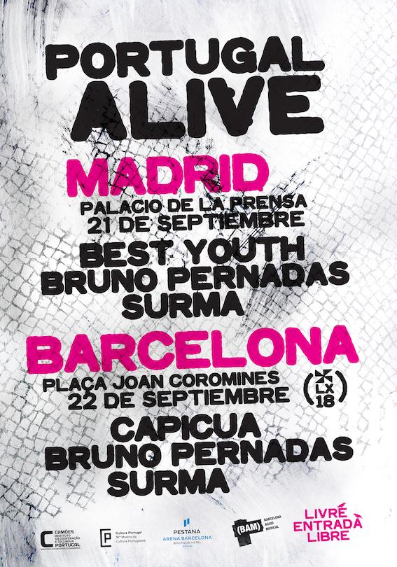 portugal alive festival gratuito en Madrid y Barcelona los días 21 y 22 de septimebre