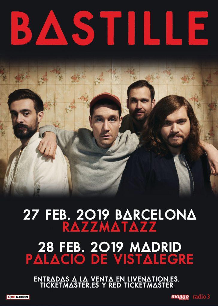 bastille en febrero en Madrid y Barcelona