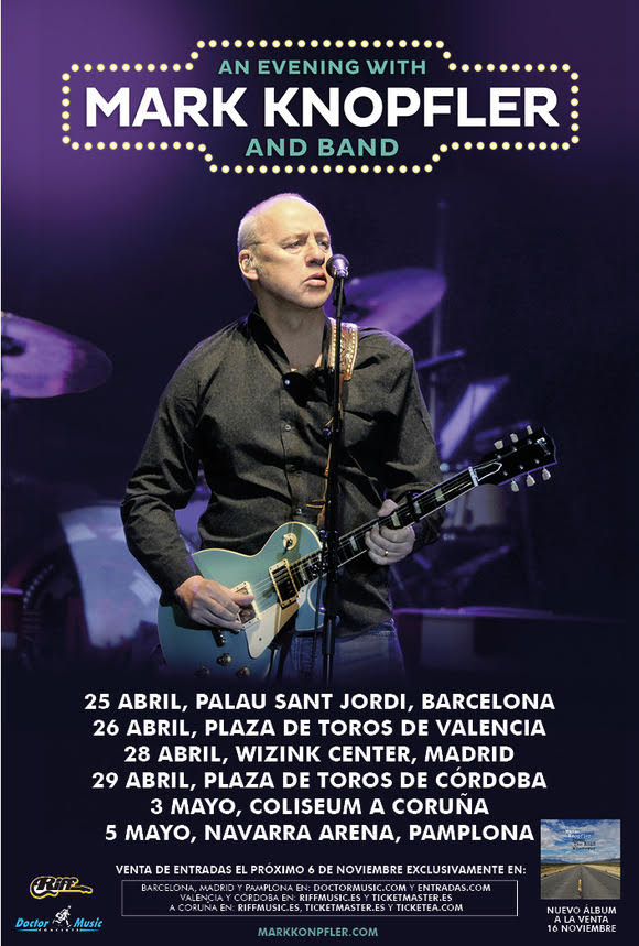 mark knopfler de gira por España en 2019 con nuevo disco