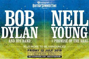 bob dylan y neil young en el bst hyde park en julio