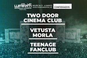 warm up estrella de levante vetusta morla, teenage fanclub y two door cinema club