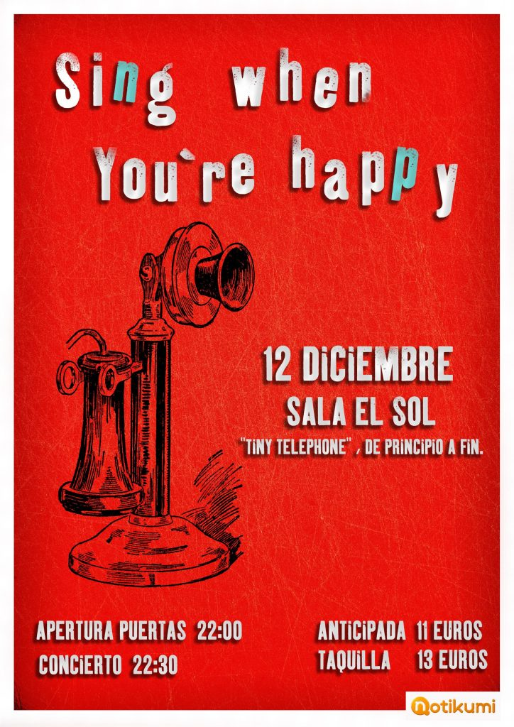sing when you are happy