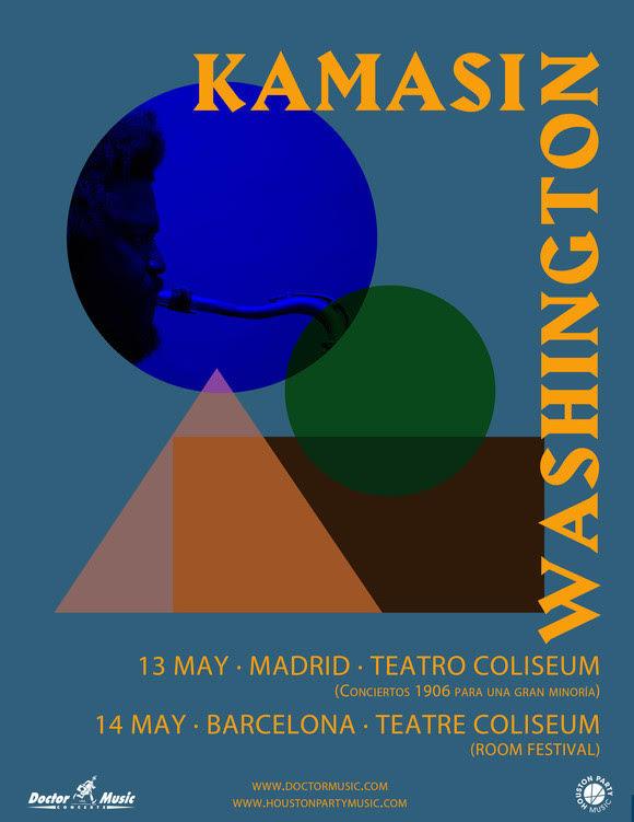 kamasi washington en Madrid y Barcelona
