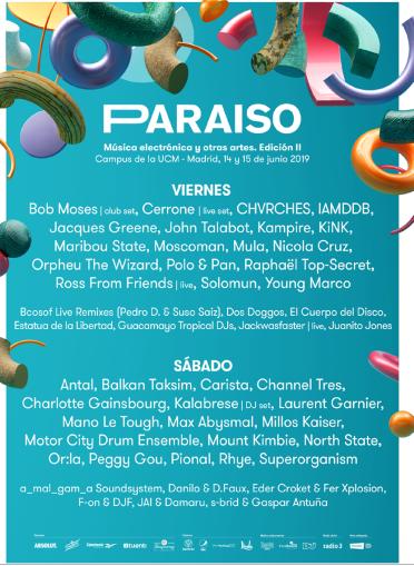 paraiso festival 2019 cartel