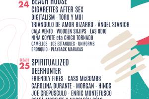 Cartel por días Tomavistas Festival