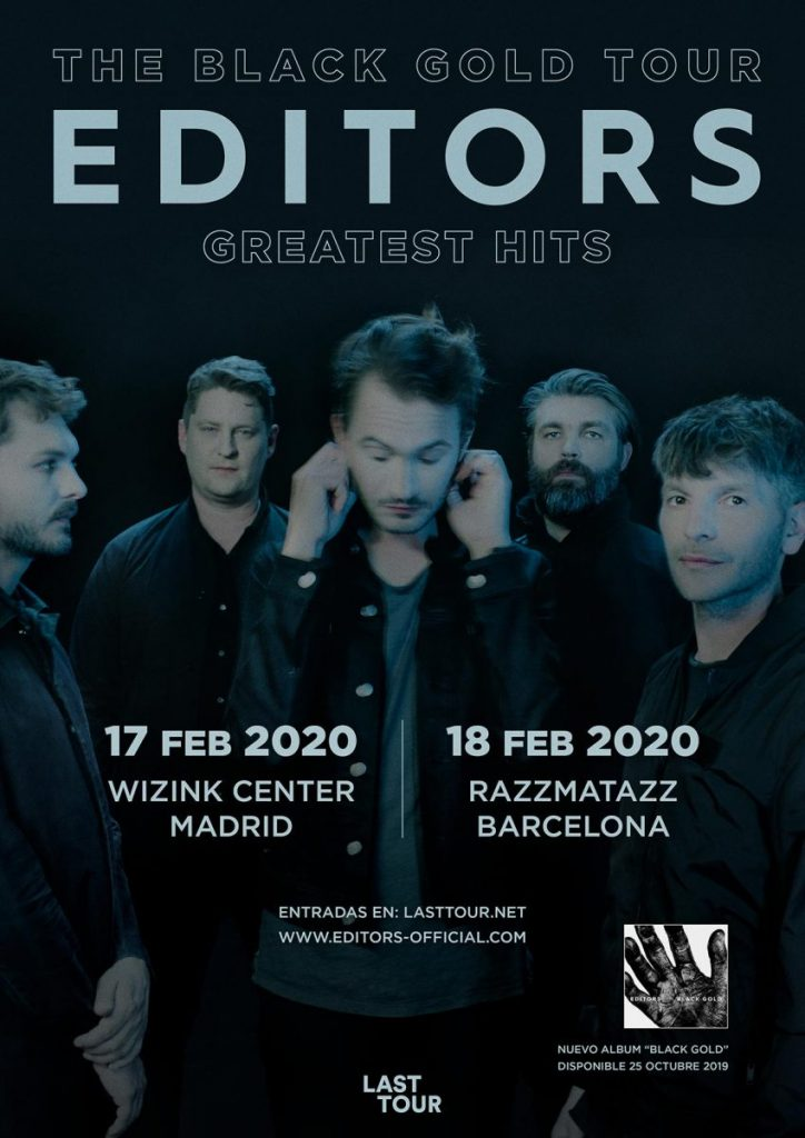 editors the black gold tour madrid y barcelona