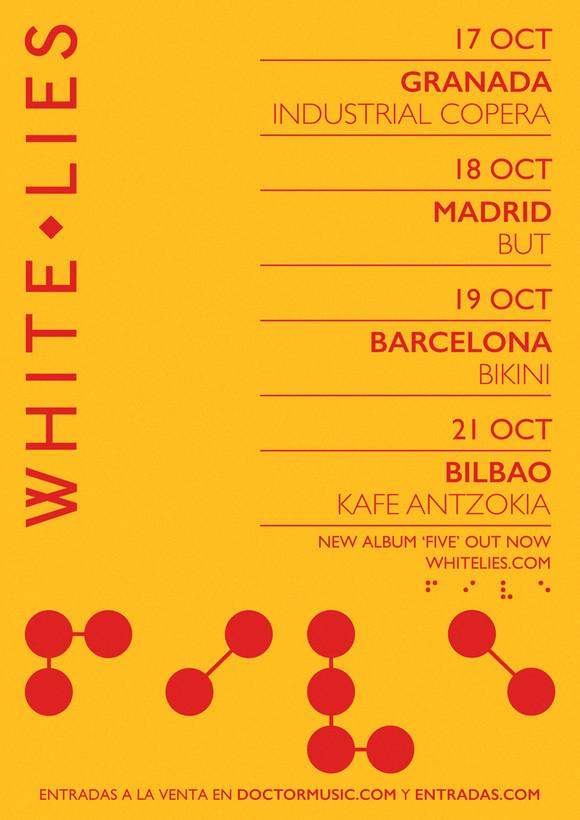 white lies gira octubre 2019