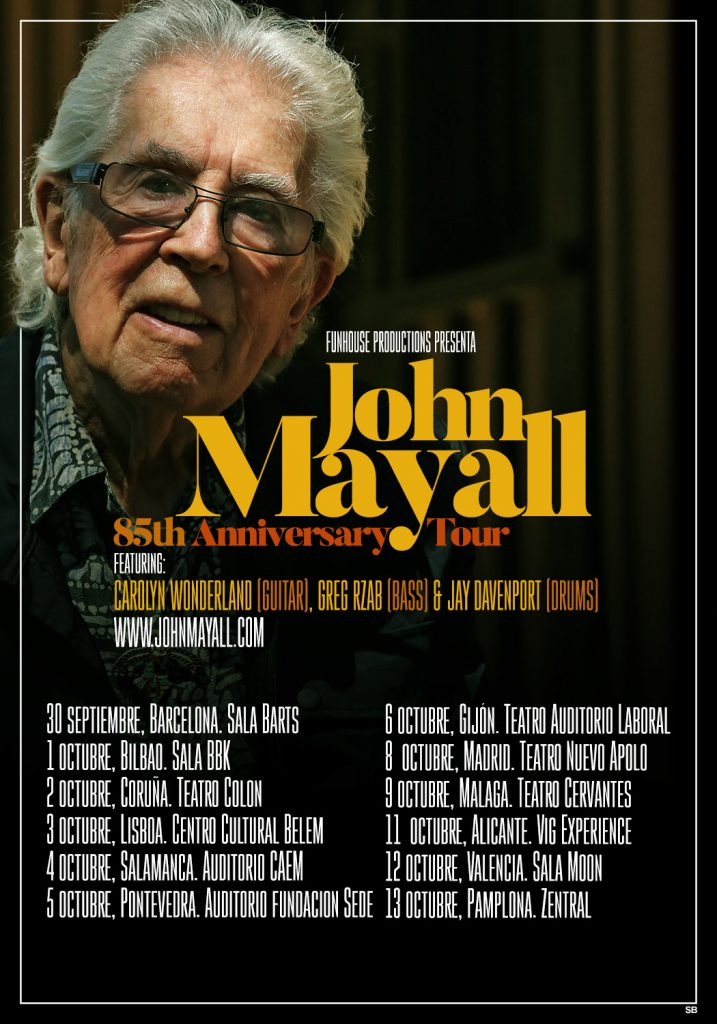 john mayall 85th anniversary tour