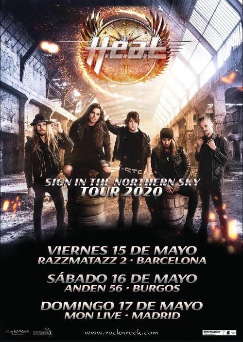 H.E.A.T en burgos, madrid y barcelona
