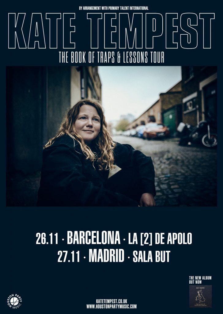 kate tempest gira 2019 en Madrid y Barcelona