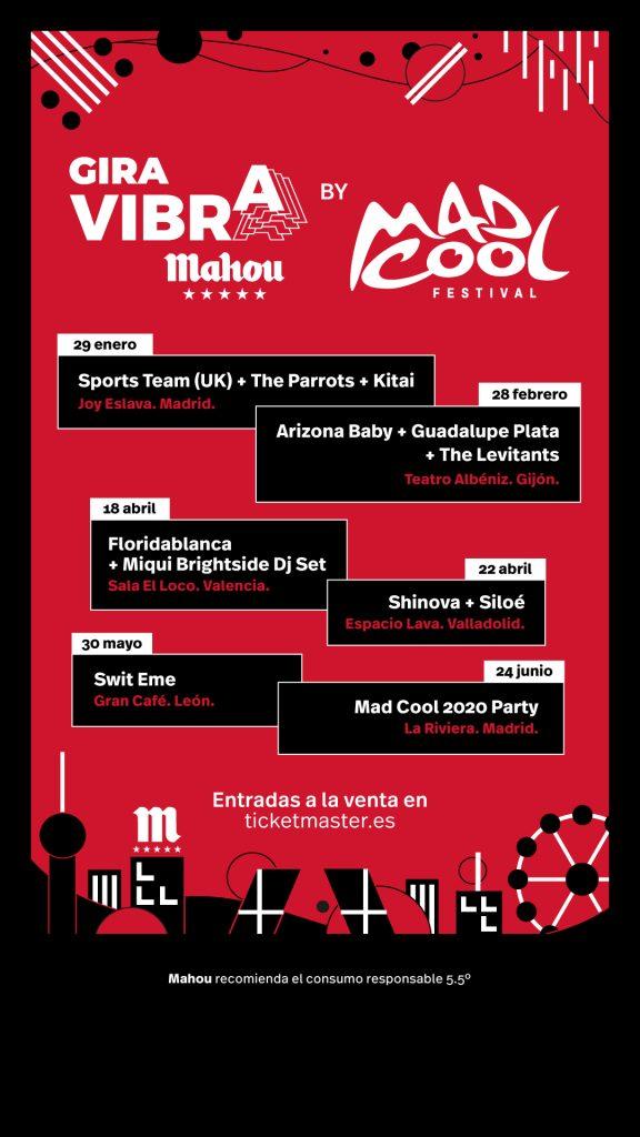 Sports Team, The Parrots, ARizona Baby y más en la gira Vibra Mahou y Mad Cool Festival