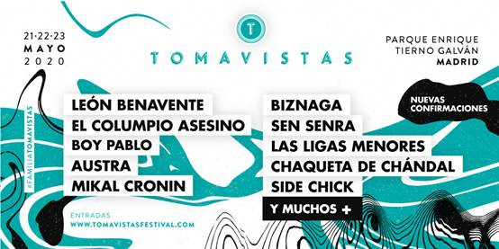 nuevas confirmaciones tomavistas festival 2020