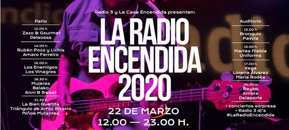 El 22 de marzo vuelve la Radio Encendida a La Casa Encendida