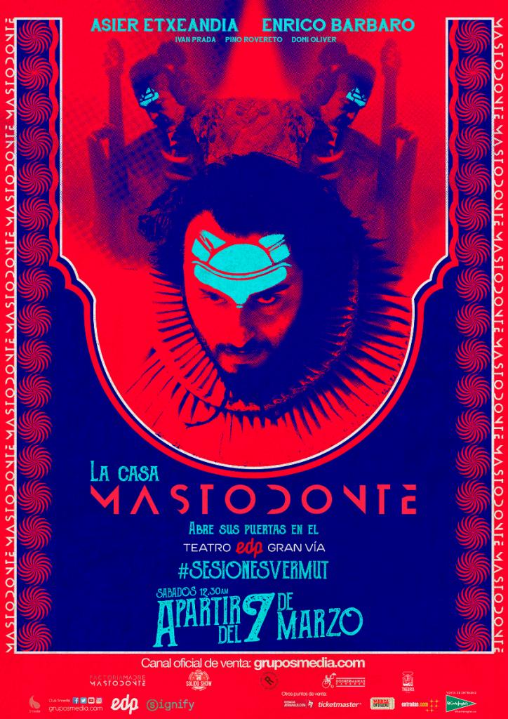 Mastodonte llega al teatro edp gran vía los sábados de marzo