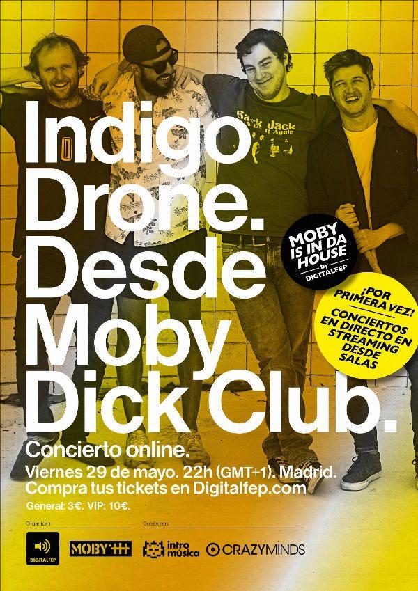 indigo drone en la moby dick club