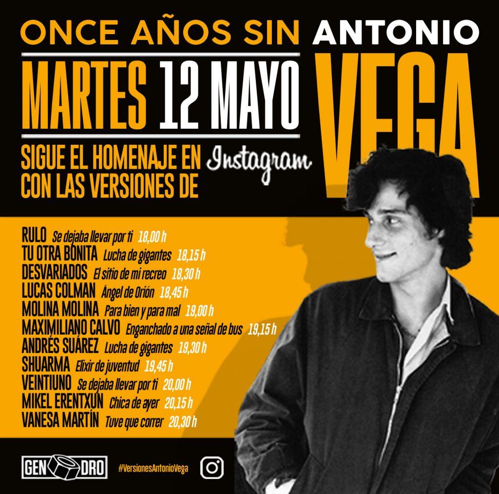 Once aniversario del fallecimiento de Antonio Vega