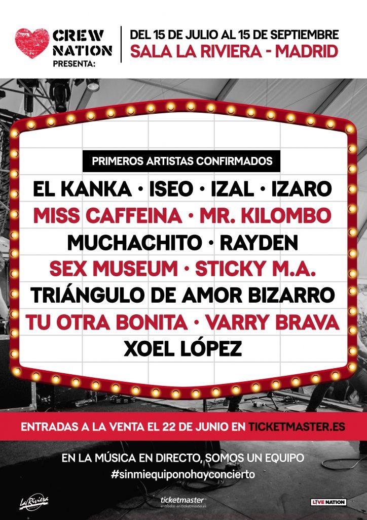Live Nation lleva a La Rivera conciertos de artistas consolidados adaptados a la nueva normalidad