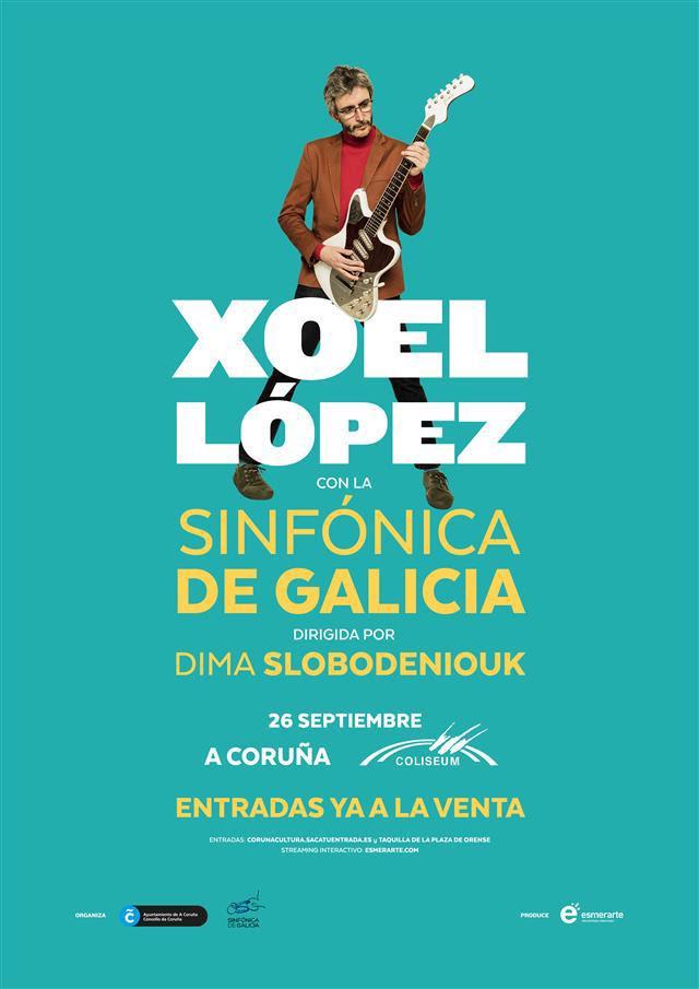 xoel lópez y la orquesta sinfónica de Galicia en concierto
