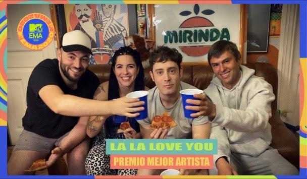 La La Love You ganadores del Premio MTV EMAs 2020 a Mejor Artista Español