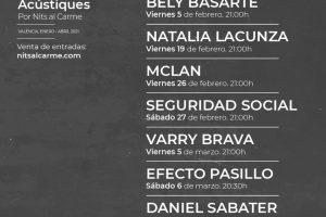 'Nits al Carme' presenta 'Nits Acústiques' un ciclo de conciertos íntimos de enero a mayo en el Teatro La PlaZeta de València