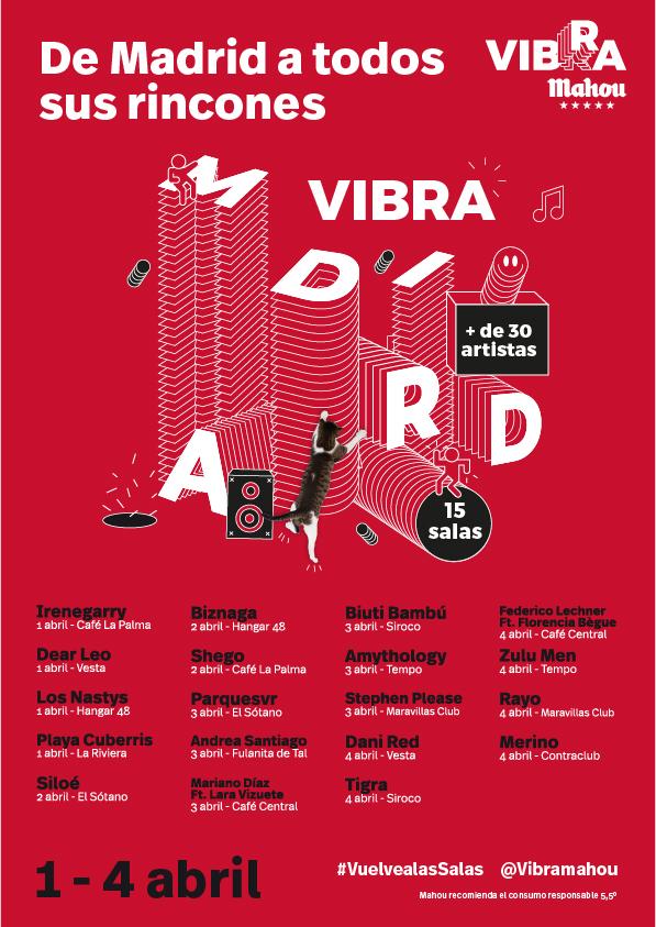 Cartel VIBRA MADRID